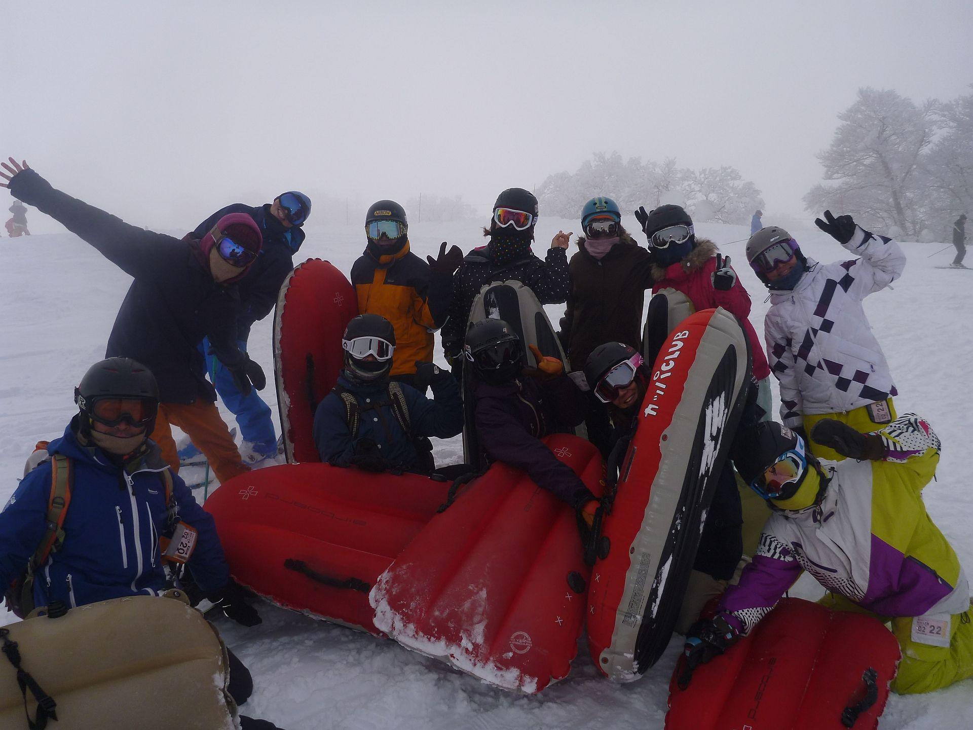野沢温泉スキー場エアーボード1日ツアー