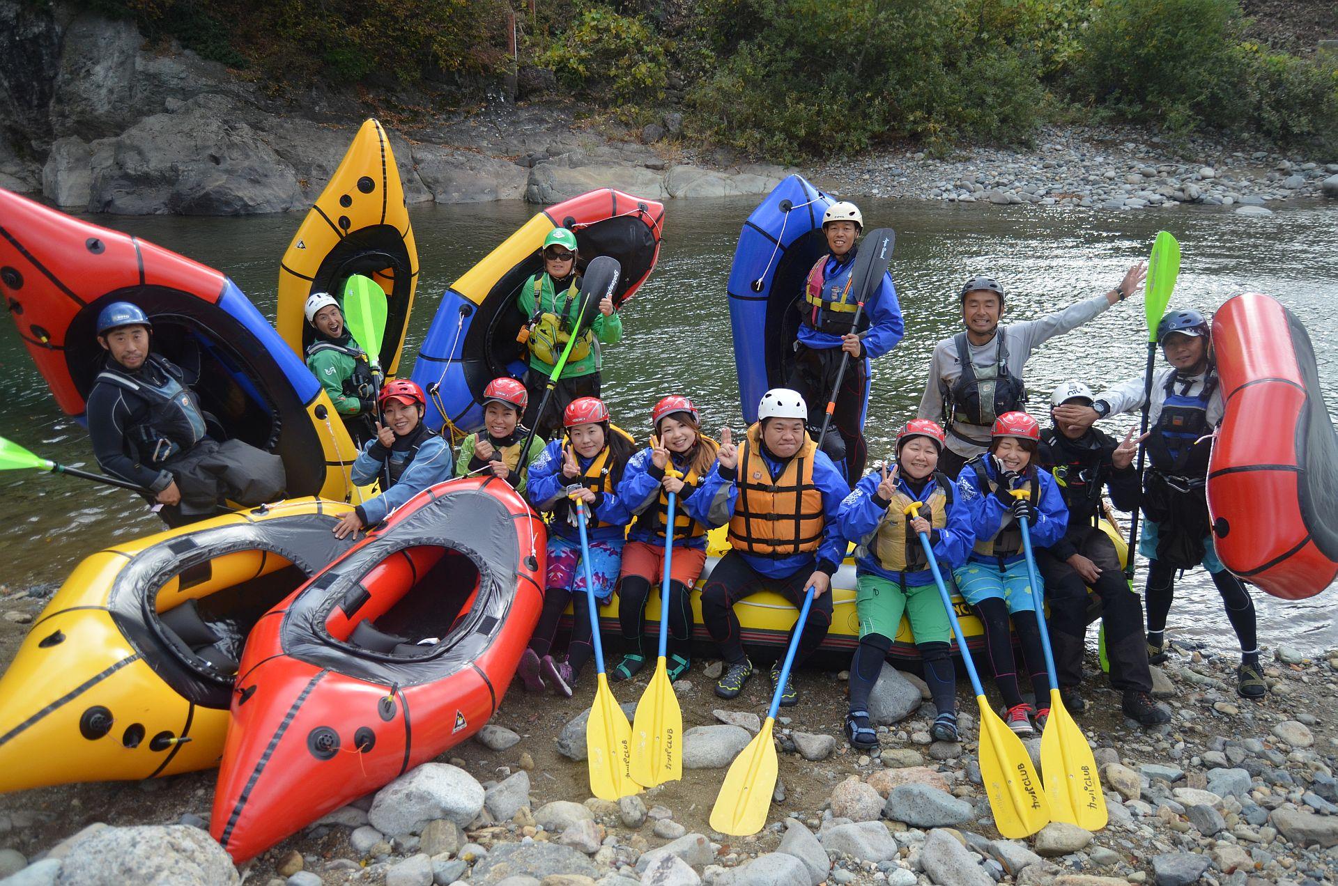一日で利根川と信濃川行っちゃいましたね!パックラフトとコラボ!!11月3日(火)カッパクラブイベント