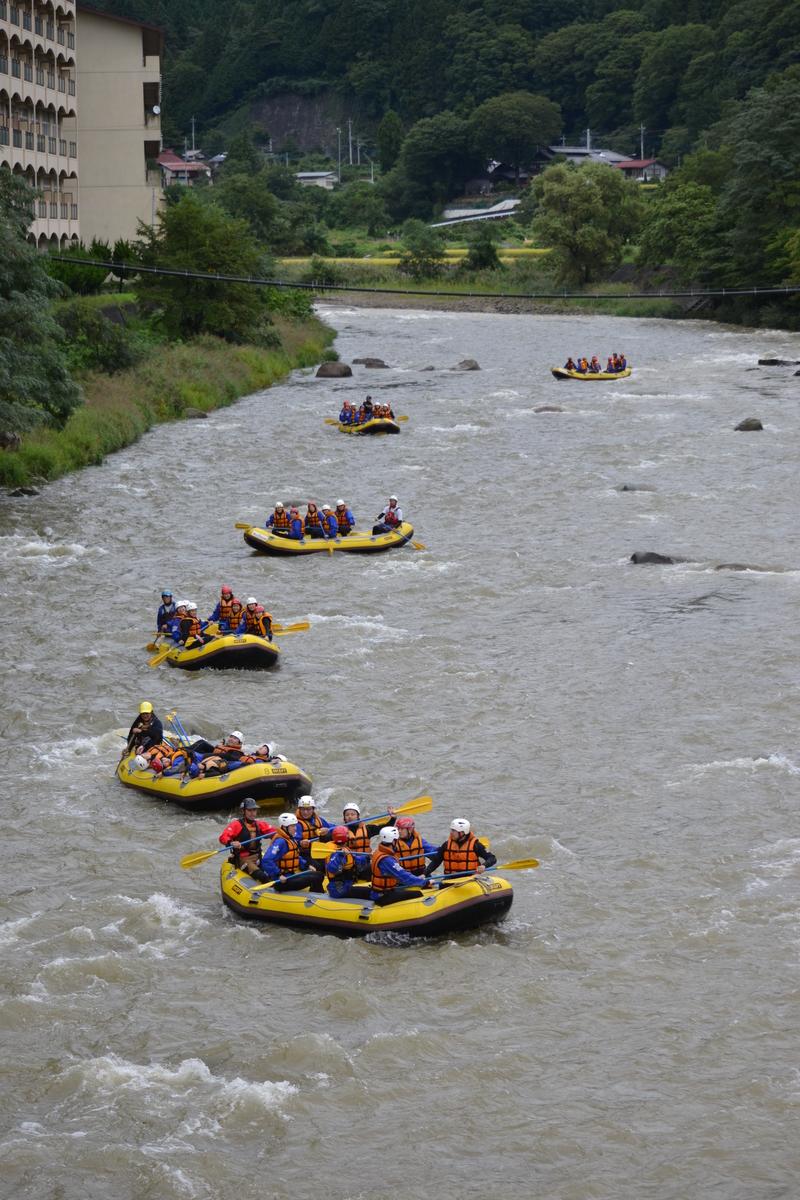ラフティング 利根川の水量アップしてます!!