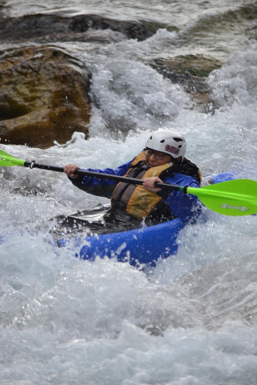 この時期はパックラフト?!1日コースで静水から流水(川下り)へレベルUP!!002