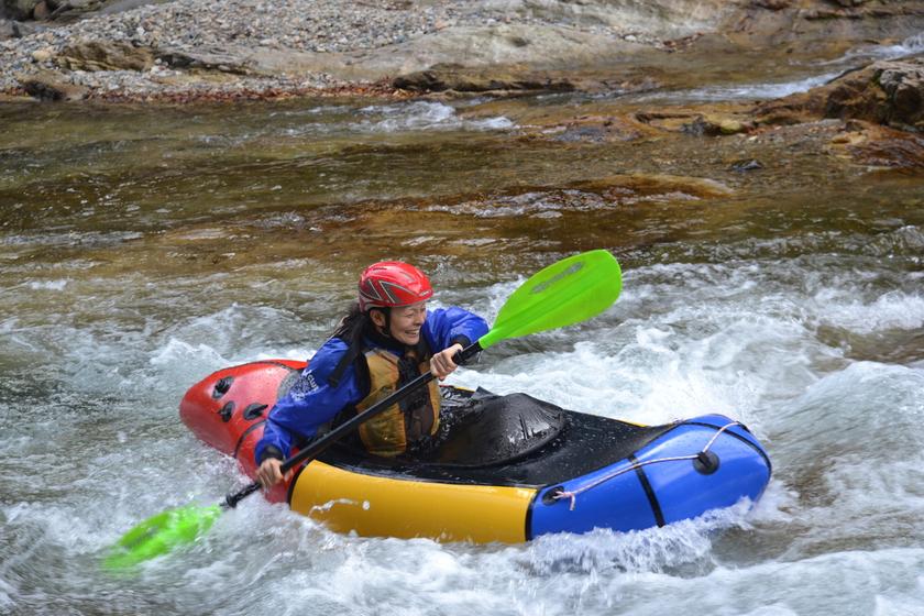 この時期はパックラフト?!1日コースで静水から流水(川下り)へレベルUP!!003