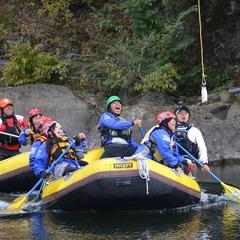 今日は日本一の広い川と長い川でラフティングしちゃいましたよ