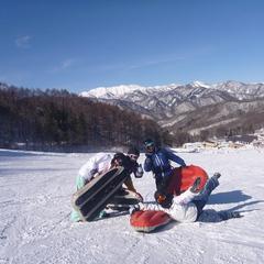 青空×雪×エアーボード=ハッピー!
