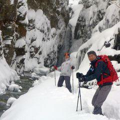 フカフカの新雪の中をハイキングして来ました。