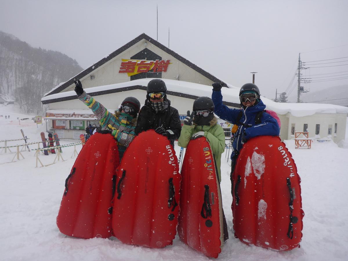 エアーボード やっぱり雪は最高ですね♪エアーボードツアー