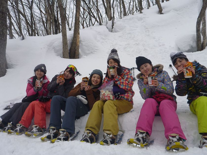 雪が豊富なみなかみ町でスノーシュー体験!002