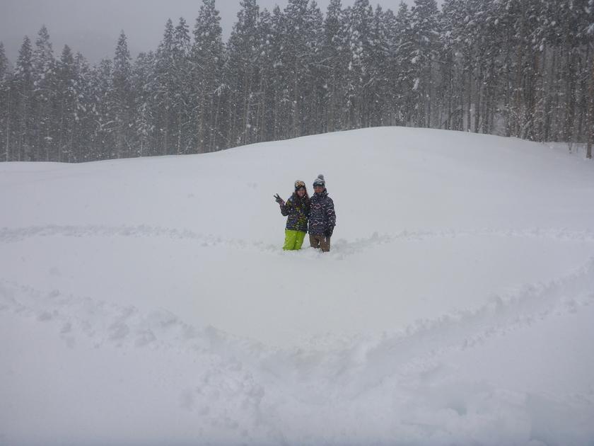 大雪でみなかみ町は大慌て でもスノーシューは楽しかった2月12日、日曜日002