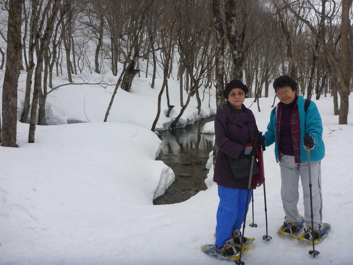 スノーシュー 晴れすぎず寒すぎずちょうどいい日和!