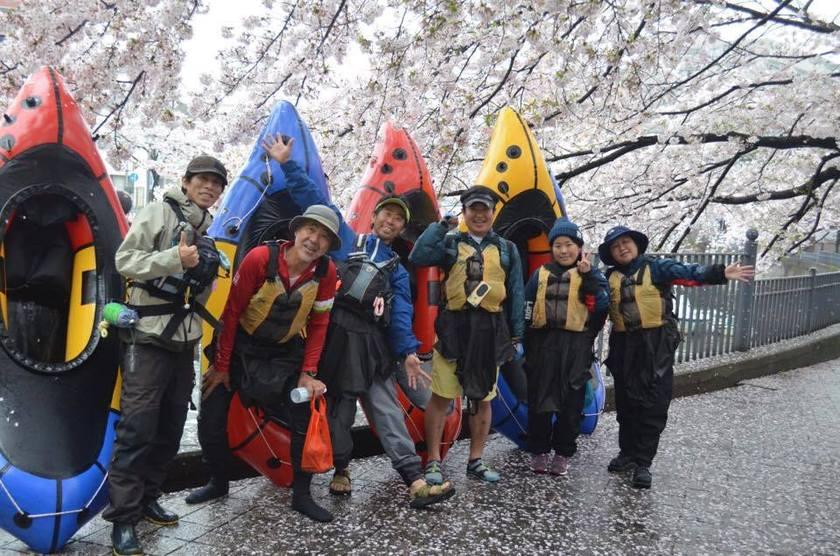 満開の桜を求めて!初☆横浜遠征お花見パックラフト001