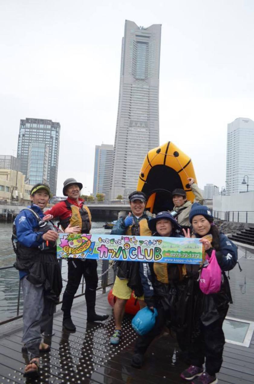 満開の桜を求めて!初☆横浜遠征お花見パックラフト005