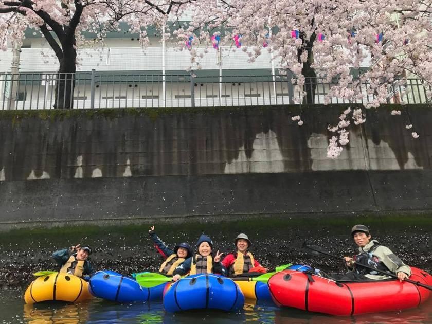 満開の桜を求めて!初☆横浜遠征お花見パックラフト002