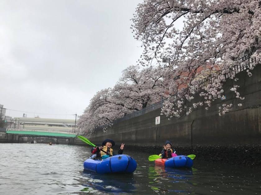 満開の桜を求めて!初☆横浜遠征お花見パックラフト004
