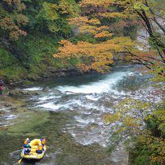 利根川の渓谷も紅葉がキレイに!