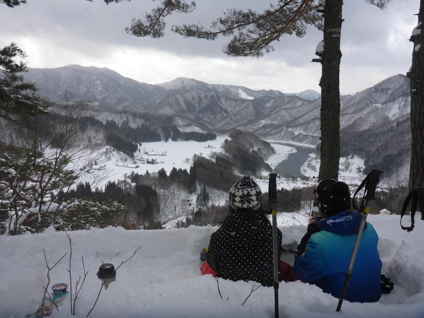 THE新雪!!まさに「スノーシュー日和」の半日コース♪003