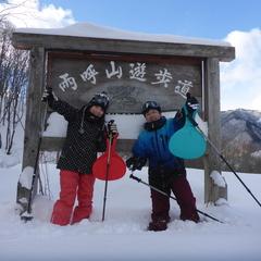 THE新雪!!まさに「スノーシュー日和」の半日コース♪