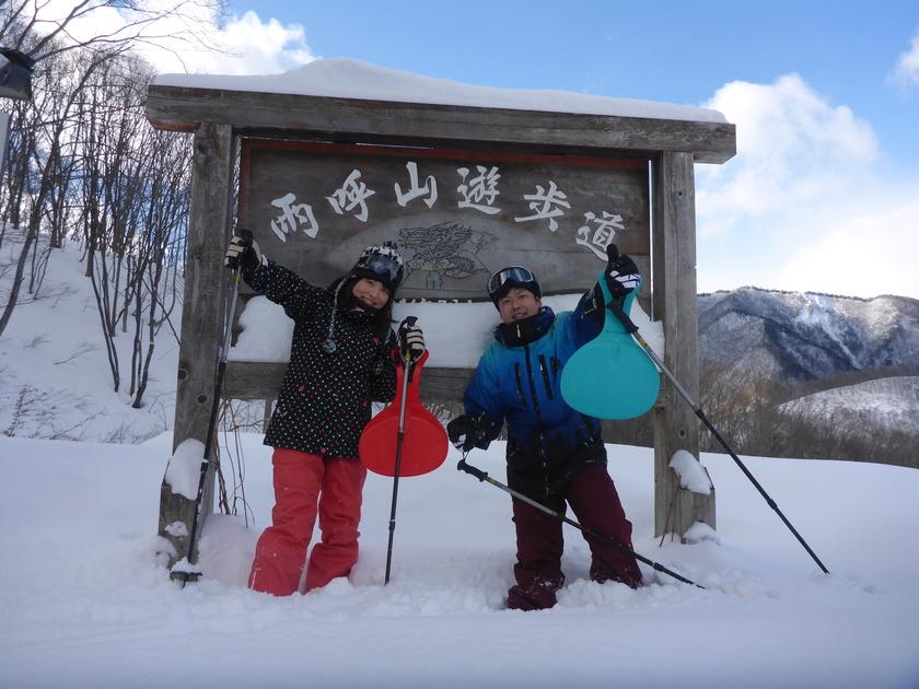 THE新雪!!まさに「スノーシュー日和」の半日コース♪001