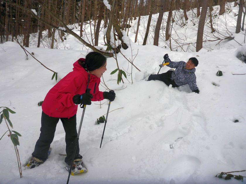 微笑みの国から雪国へスノーシュー002