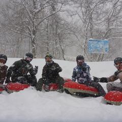 今冬、一番の雪!でエアーボードを1日満喫~♪
