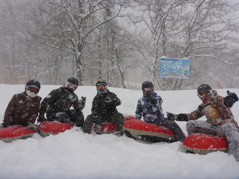 今冬、一番の雪!でエアーボードを1日満喫~♪001