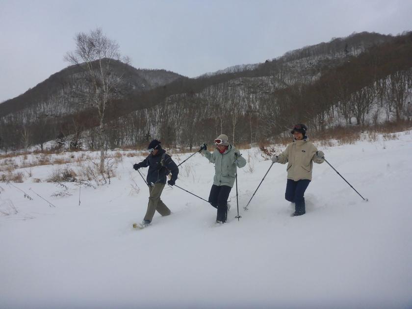スノーシューを履いて、本気で雪とたわむれました!002