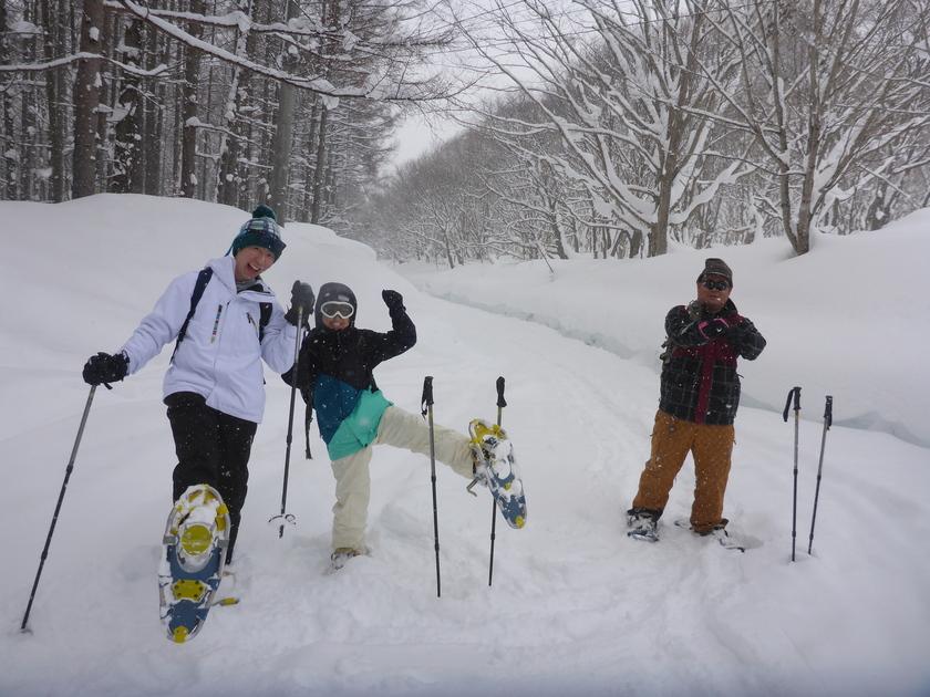 この冬初のスノーシュー1DAYツアー開催です\(^o^)/007