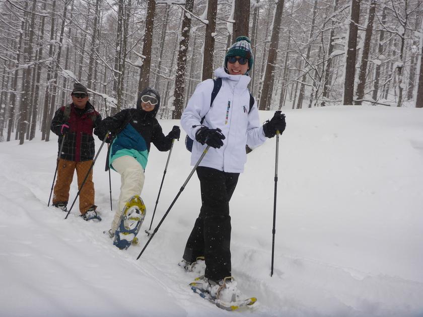 この冬初のスノーシュー1DAYツアー開催です\(^o^)/002