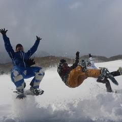 この冬初のスノーシュー1DAYツアー開催です\(^o^)/