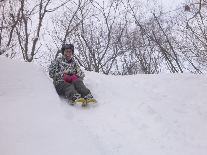 いっぱい遊んだ!景色も最高!スノーシュー半日コース005