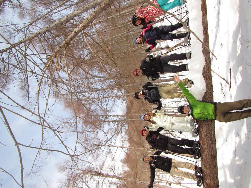 スノーシューを履いて雪山ハイキング!!004