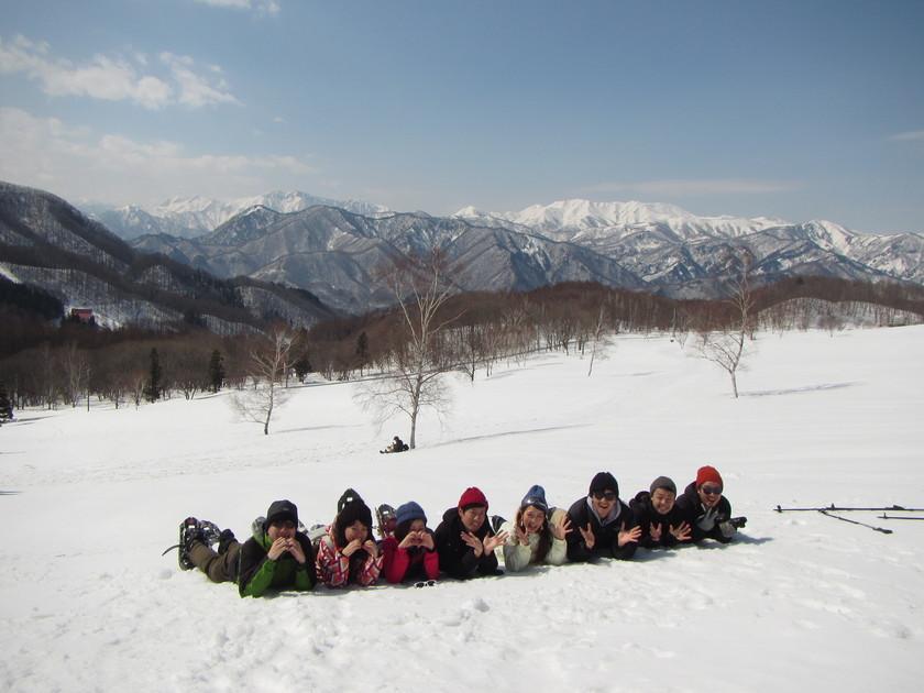 スノーシューを履いて雪山ハイキング!!003