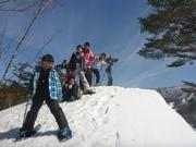 小学生もスノーシューで雪山デビュー