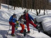 スノーシューを履いて雪山ハイキング!!