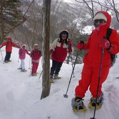 雪国らしいお天気でスノーハイキング