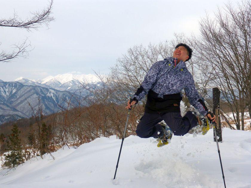 微笑みの国から雪国へスノーシュー001
