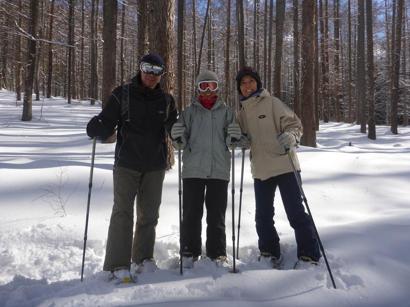 スノーシューを履いて、本気で雪とたわむれました!001