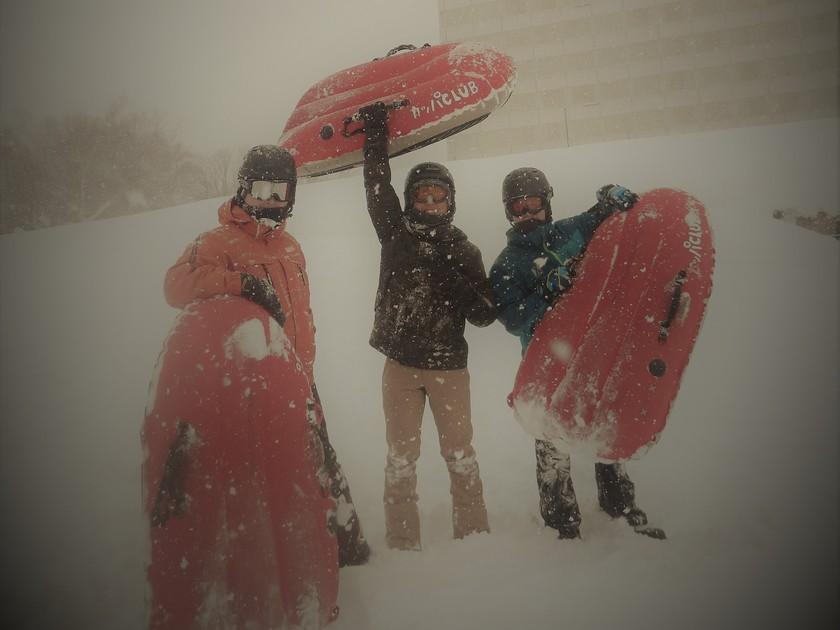吹雪に負けるな!?男祭りのエアーボード半日コース!002