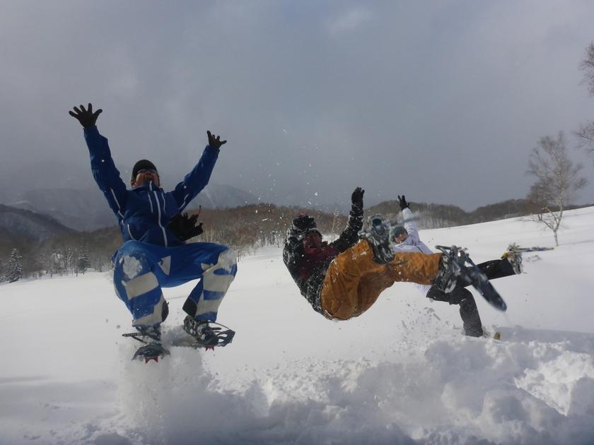 この冬初のスノーシュー1DAYツアー開催です\(^o^)/001