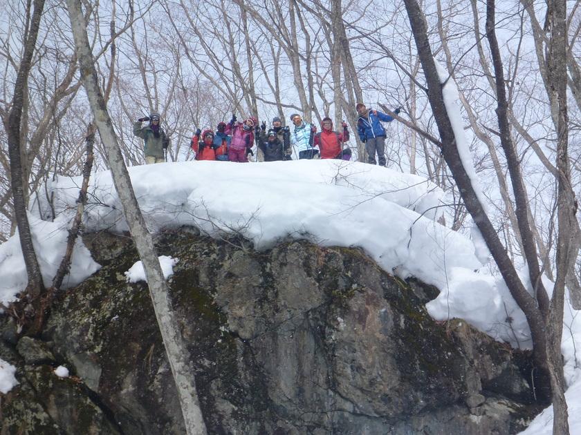 登山愛好のみなさまと雪山でスノーシュー♪002