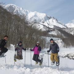 谷川岳一ノ倉沢の絶景スノーシュー
