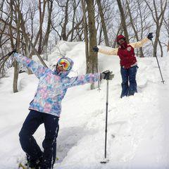 スノーシューで雪山を遊び尽くし!