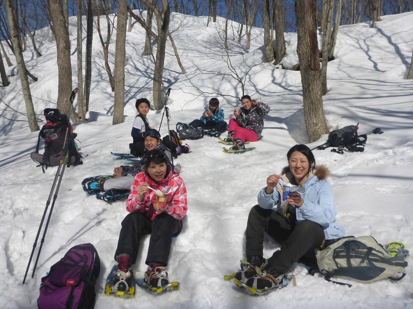 小学生もスノーシューで雪山デビュー002