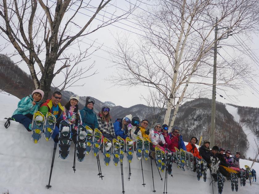 スノーシューを履いて雪山ハイキング!!002