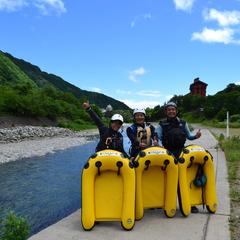 利根川の水透き通ってます!!