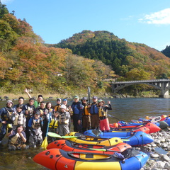 那珂川をパックラフトでキャンプツアー with   冒険小屋