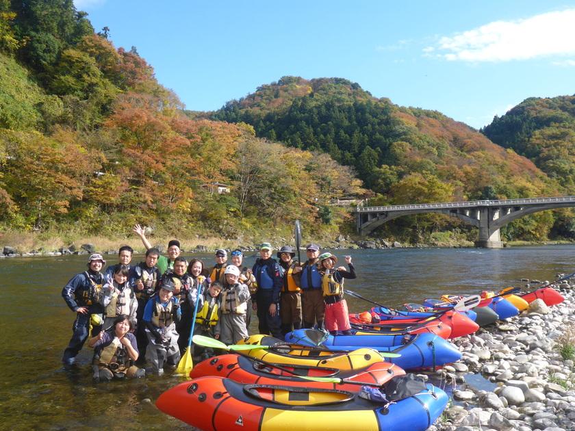 那珂川をパックラフトでキャンプツアー with   冒険小屋001