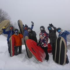 豪雪と勝負!何が何でもエアーボード1日楽しみました!!