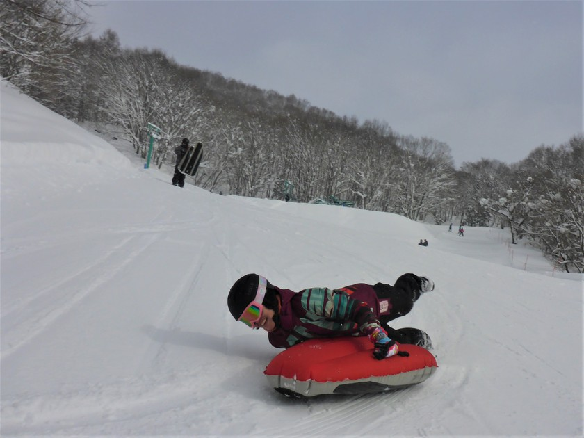 大雪の群馬へようこそ!エアーボードでゲレンデ快走!003