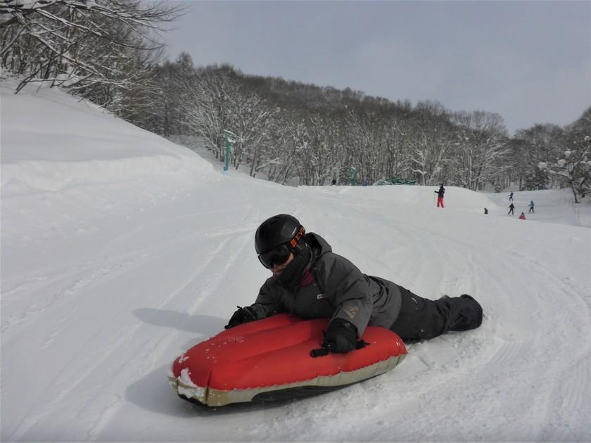 大雪の群馬へようこそ!エアーボードでゲレンデ快走!002