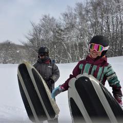 大雪の群馬へようこそ!エアーボードでゲレンデ快走!