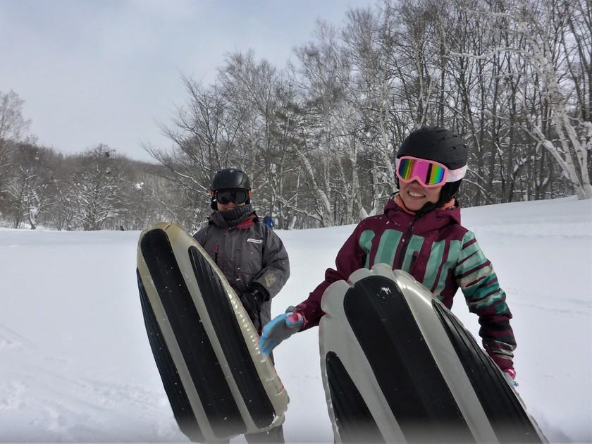 大雪の群馬へようこそ!エアーボードでゲレンデ快走!001